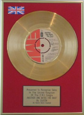 QUEEN - 24 Carat Gold Disc - ANOTHER ONE BITES THE DUST